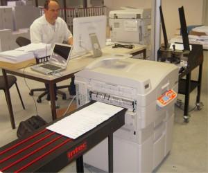 Impression d'enveloppe sur presse numérique laser chez Siman