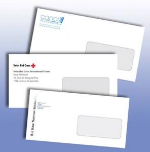 Des exemples d'enveloppes imprimées en numérique
